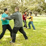 February: Push Hands in the Park